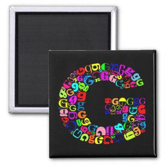 De brief G van het Alfabet Magneet