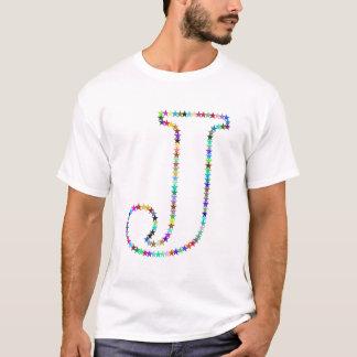 De Brief J van de Ster van de regenboog T Shirt
