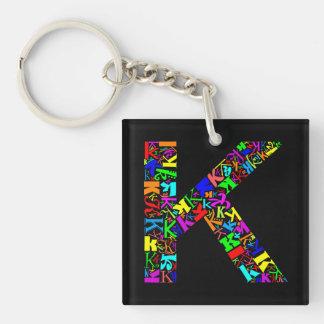 De brief K van het Alfabet Sleutelhanger