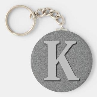 De Brief K van het monogram Sleutelhanger