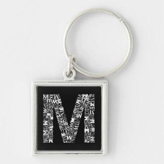 De brief M van het Alfabet Sleutelhanger