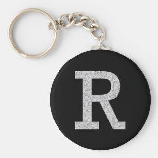 De Brief R van het monogram Sleutelhanger