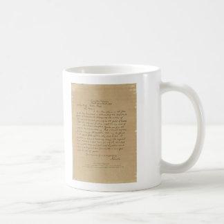 De Brief van Abraham Lincoln van het president aan Koffiemok