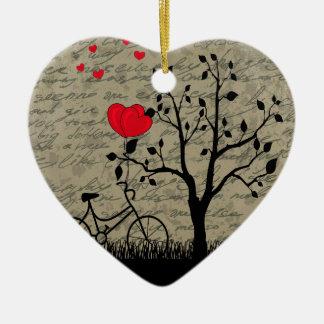 De brief van de liefde keramisch hart ornament