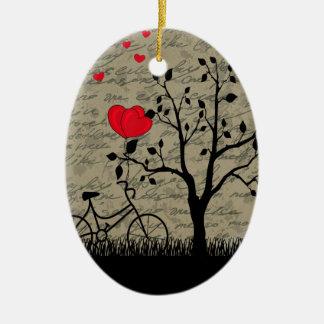 De brief van de liefde keramisch ovaal ornament