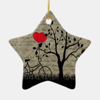De brief van de liefde keramisch ster ornament