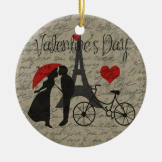 De brief van de liefde - Parijs Rond Keramisch Ornament