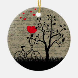 De brief van de liefde rond keramisch ornament