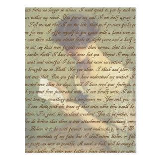 De Brief van de overtuiging Briefkaart