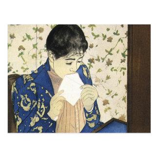 De brief van Mary Cassatt, Vintage Impressionisme Briefkaart