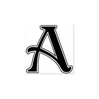 De Brief van Nouveau een Monogram Rubberenstempel