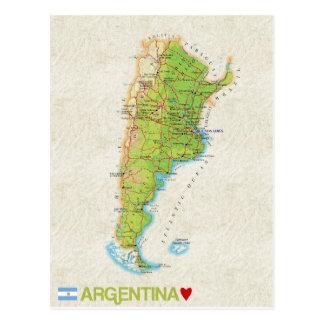 De BRIEFKAARTEN ♥ Argentinië van de KAART
