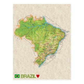 De BRIEFKAARTEN ♥ Brazilië van de KAART Briefkaart