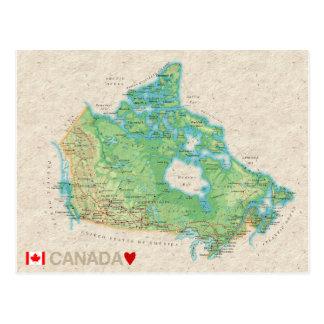 De BRIEFKAARTEN ♥ Canada van de KAART Briefkaart