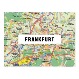 De BRIEFKAARTEN ♥ Frankfurt van de KAART Briefkaart