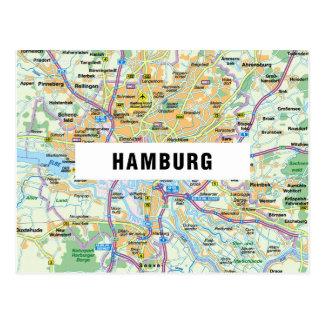 De BRIEFKAARTEN ♥ Hamburg van de KAART