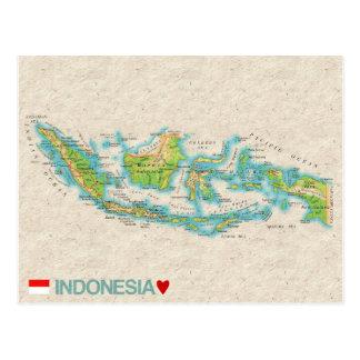 De BRIEFKAARTEN ♥ Indonesië van de KAART