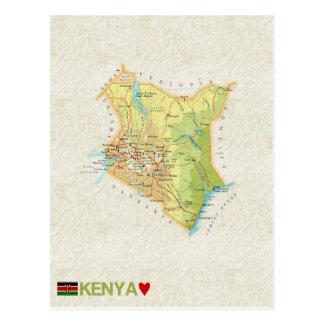 De BRIEFKAARTEN ♥ Kenia van de KAART