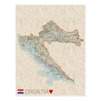 De BRIEFKAARTEN ♥ Kroatië van de KAART
