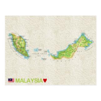 De BRIEFKAARTEN ♥ Maleisië van de KAART