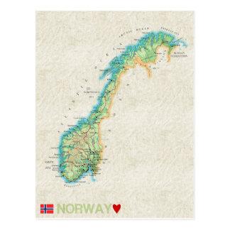 De BRIEFKAARTEN ♥ Noorwegen van de KAART Briefkaart