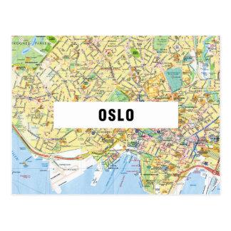 De BRIEFKAARTEN ♥ Oslo van de KAART