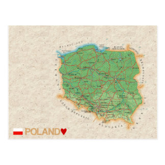 De BRIEFKAARTEN ♥ Polen van de KAART