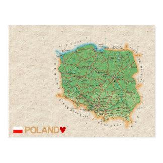 De BRIEFKAARTEN ♥ Polen van de KAART Briefkaart