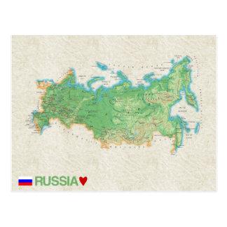 De BRIEFKAARTEN ♥ Rusland van de KAART