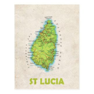 De BRIEFKAARTEN ♥ St Lucia van de KAART