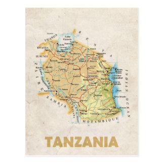 De BRIEFKAARTEN ♥ Tanzania van de KAART