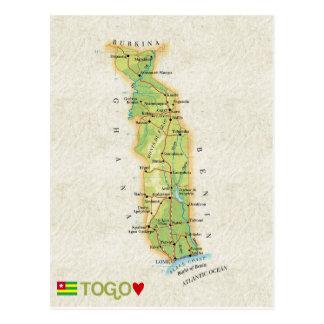 De BRIEFKAARTEN ♥ Togo van de KAART Briefkaart