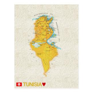 De BRIEFKAARTEN ♥ Tunesië van de KAART