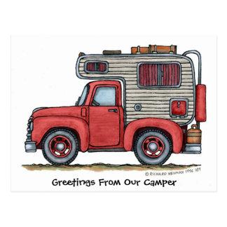 De Briefkaarten van de Kampeerauto rv van de Briefkaart