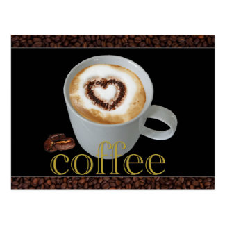 De Briefkaarten van de Liefde van de koffie