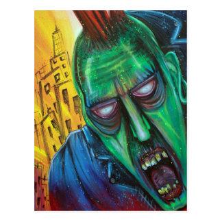 De Briefkaarten van de Zombie van het punk rock