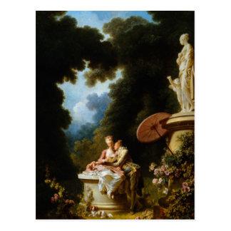De Brieven van de liefde van Jean Honore Fragonard Briefkaart