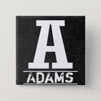 De Brieven van het Monogram van het bord Vierkante Button 5,1 Cm