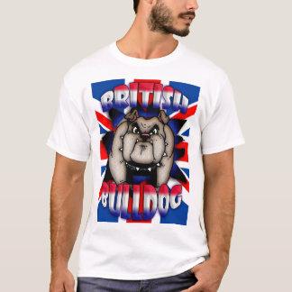 De Britse, Britse T-shirt van de Buldog met Union