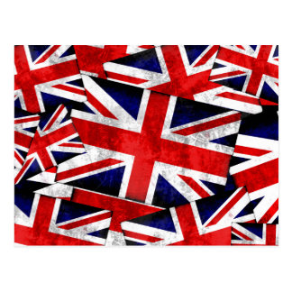 De Britse Engeland het UK Vlag van Union Jack Briefkaart