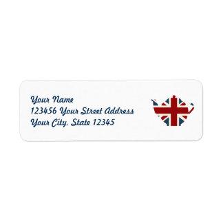 De Britse Theepot van Union Jack Etiket