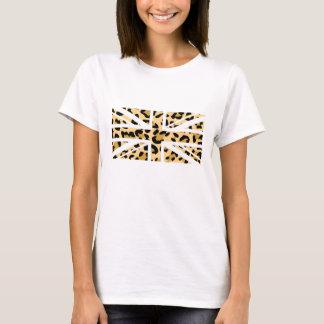 De Britse van de luipaard T-shirt van de Vlag