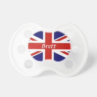 De Britse Vlag Gepersonaliseerde Fopspeen van het