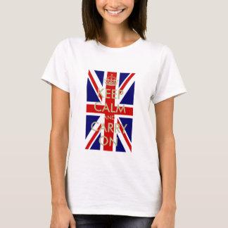De Britse Vlag houdt Kalme t-shirt voor vrouwen