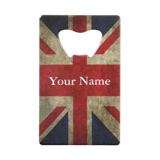 De Britse Vlag van Union Jack het UK van Engeland Creditkaart Flessenopener