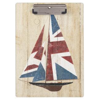 De Britse Zeilboot van de Vlag Klembord