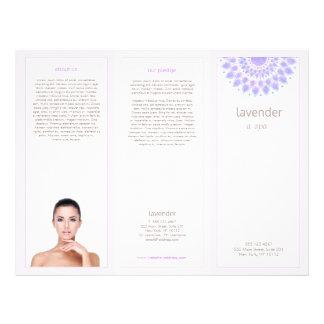 De brochure van Lotus Mandala Salon Spa Trifold Flyer 21,6 X 27,9 Cm