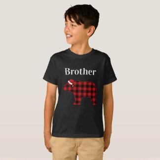 De broer draagt de Pyjama van Chrismtas van de T Shirt