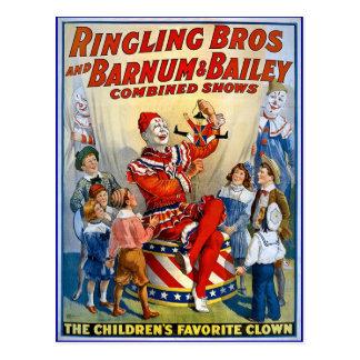 De Broers van Ringling & de Vintage Clowns van Briefkaart