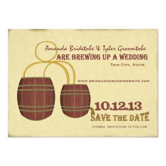 De Brouwerij van het bier bewaart de Datum 11,4x15,9 Uitnodiging Kaart